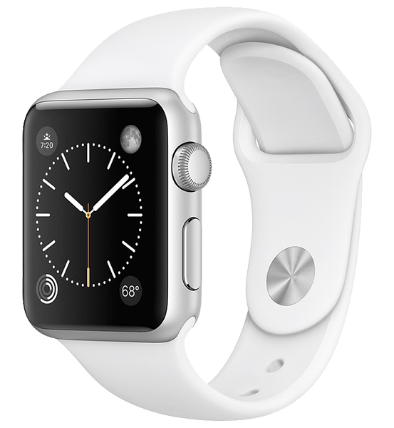 Apple Watch Series 3 38 mm Silver Aluminum Case with White Sport Band